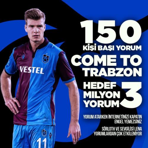 Trabzonspor taraftarlarının Alexander Sörloth transferi için hazırladığı görseli bir örneği