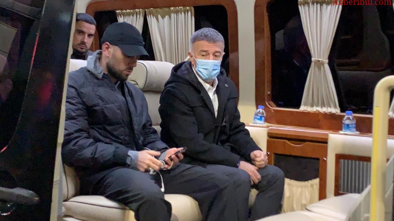 Trabzonspor Bakasetas ve Yunus Mallı'yı KAP'a Bildirdi! Bakasetas Özel Uçakla Trabzon'a Geldi
