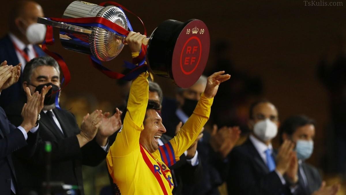 Barcelona İspanya Kral Kupasını Kazandı! Messi Bir İlki Yaşadı