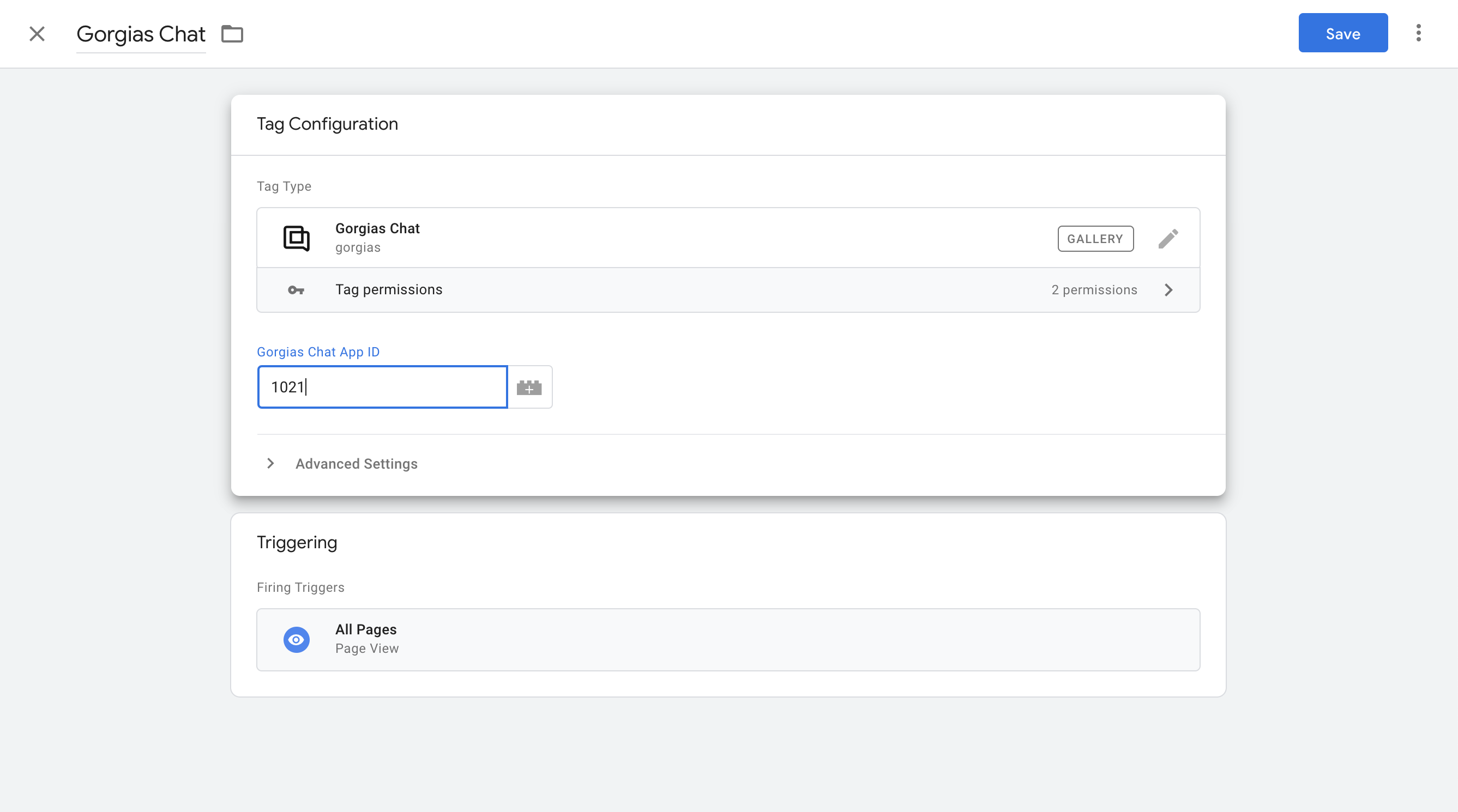 Chat available for Google Tag Manager