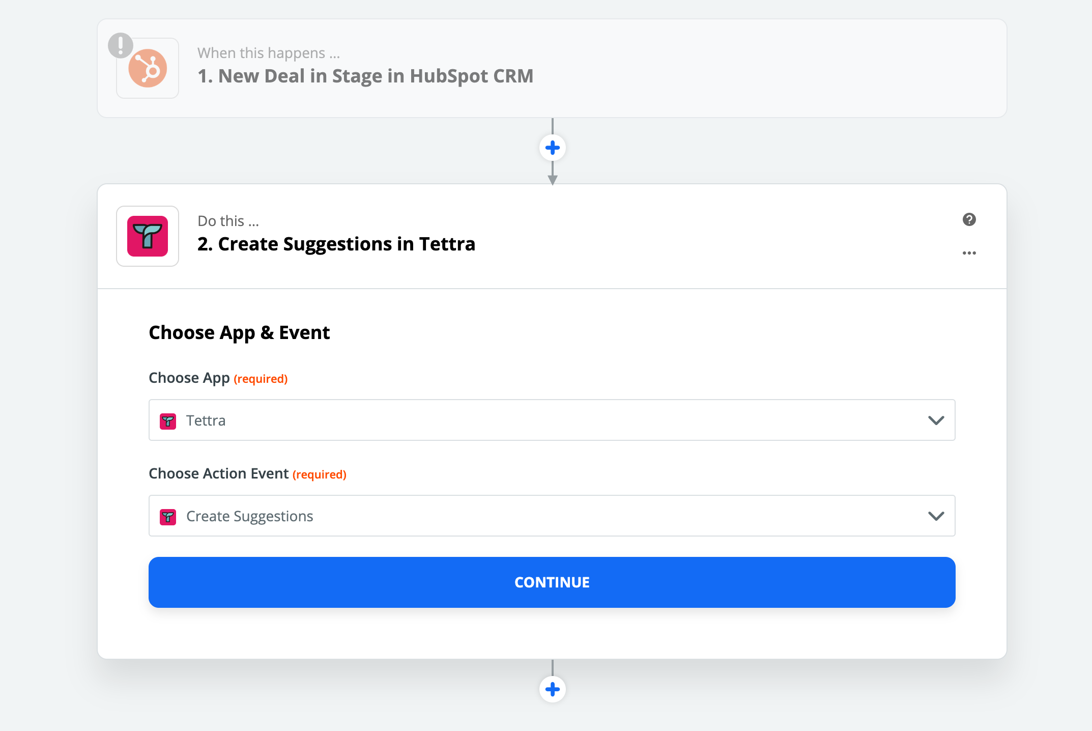 Create suggestions via Zapier