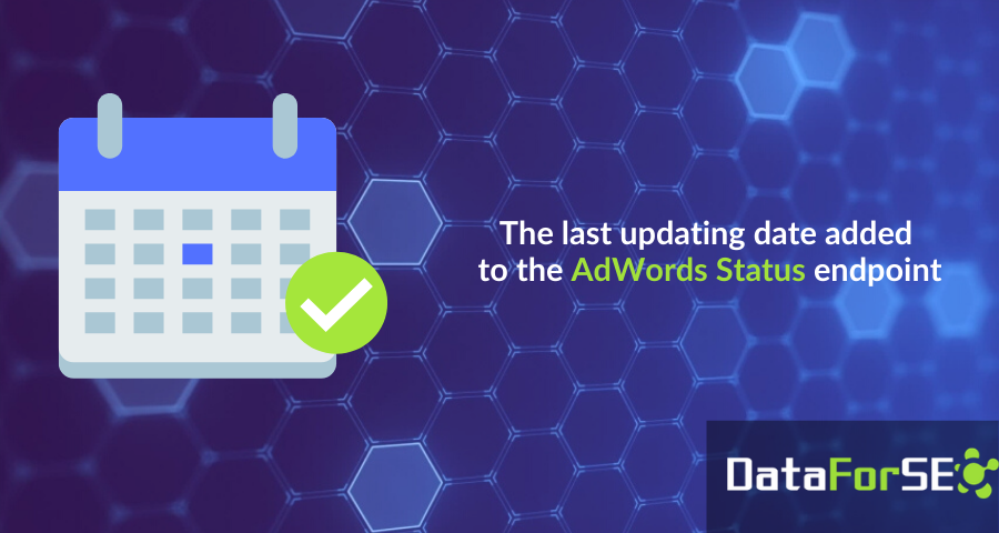 The last updated date of AdWords data 📅