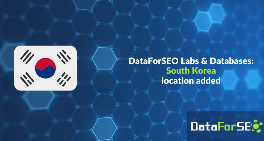 Databases for South Korea are now available ❗