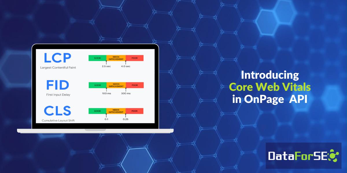 Core Web Vitals in DataForSEO API