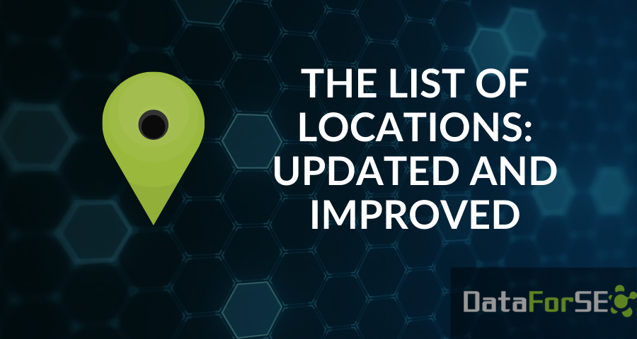 Update of the locations list 🌎