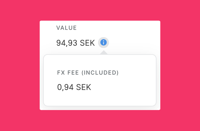 See FX and ATM fees in the Manage Expenses view