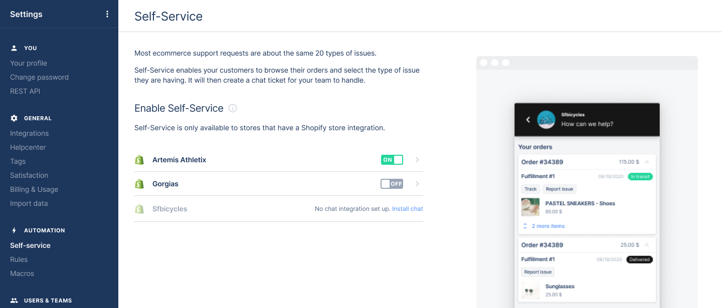 Adding returns and cancellations to our chat Self-service flows