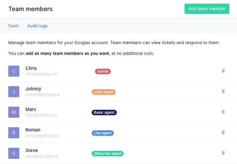 New user roles