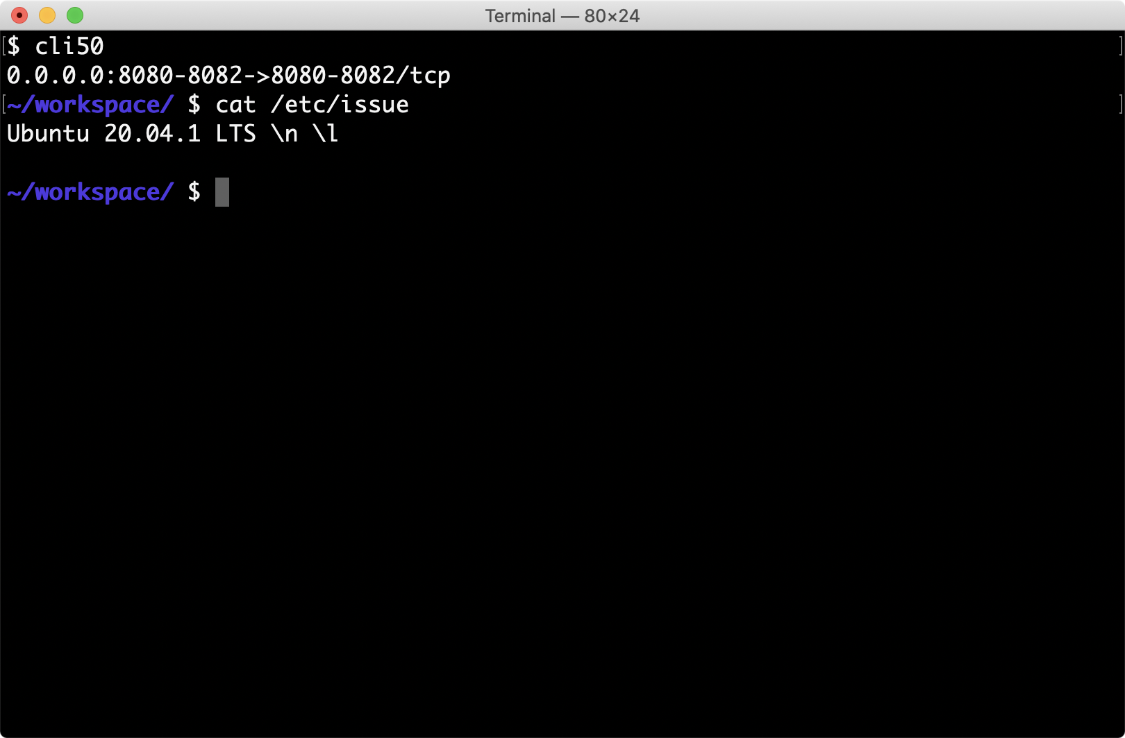 cli50 Upgraded to Ubuntu 20.04