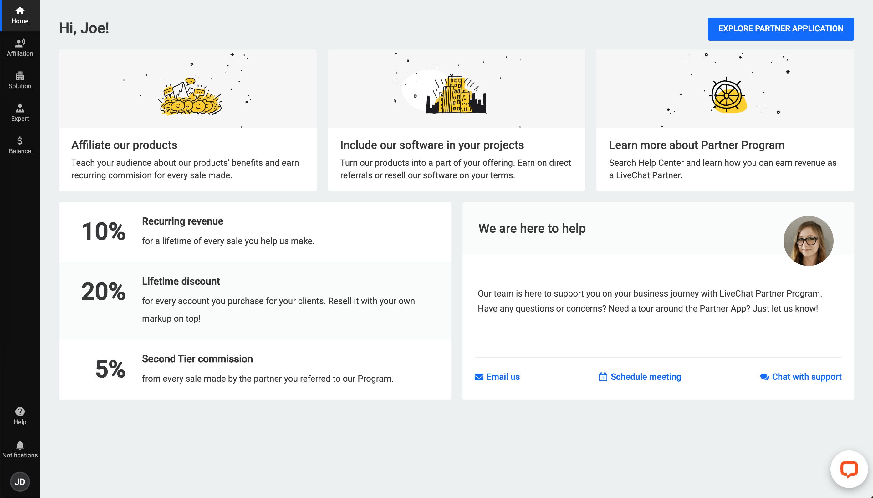 The Partner App change - navigation bar update