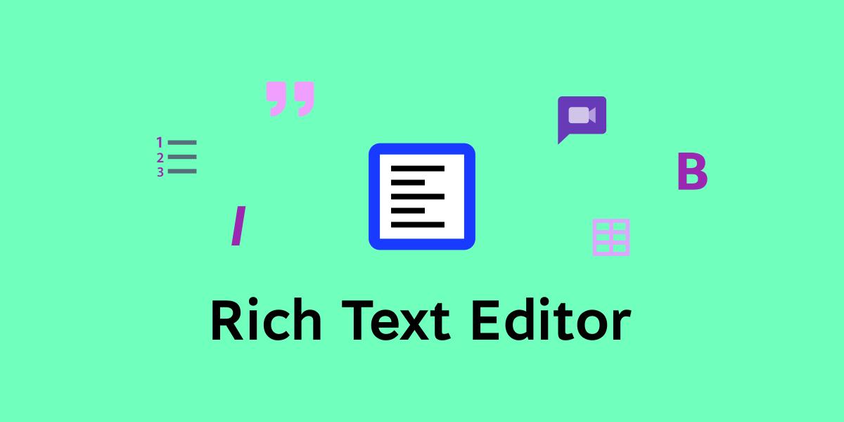 Rich Text Editor ��