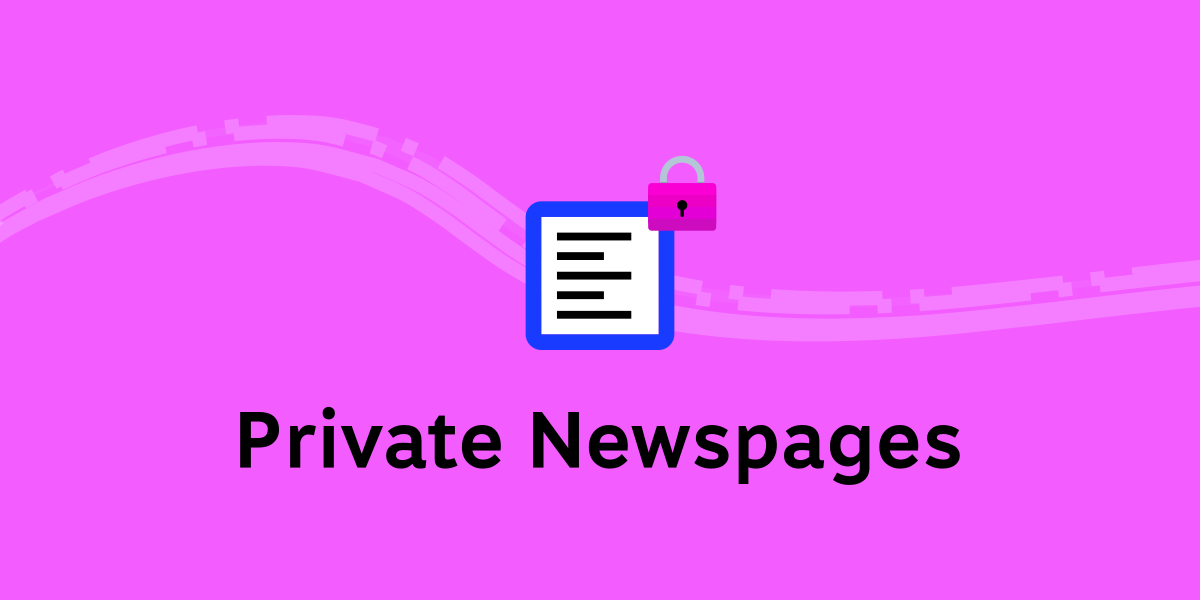 Private Newspages 🔒