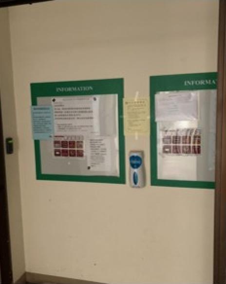 教室外酒精消毒設備2