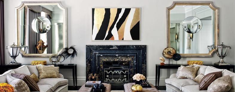 Абстрактные картины с сусальным золотом или поталью