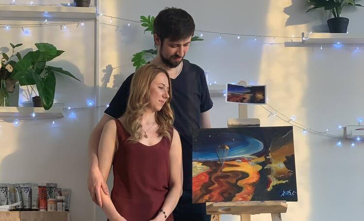 «Две частички одного целого»: романтический мастер-класс по созданию  картины