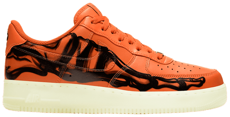 Air Force 1 Low Orange Skeleton