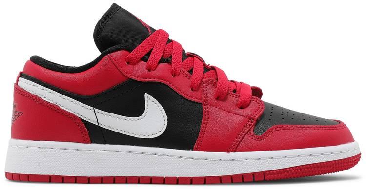 Air Jordan 1 Low Black Very Berry (GS)