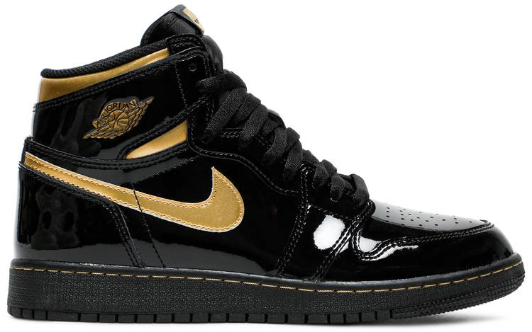 Air Jordan 1 Retro High OG Black Metallic Gold