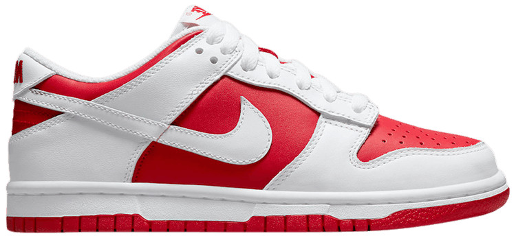 Dunk Low White University Red (GS)