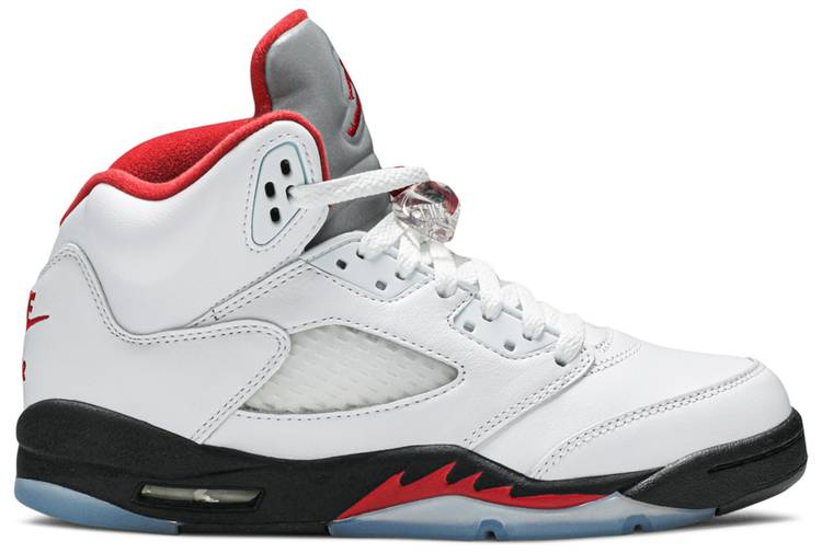 Jordan 5 Retro Fire Red Silver Tongue 2020 (GS)