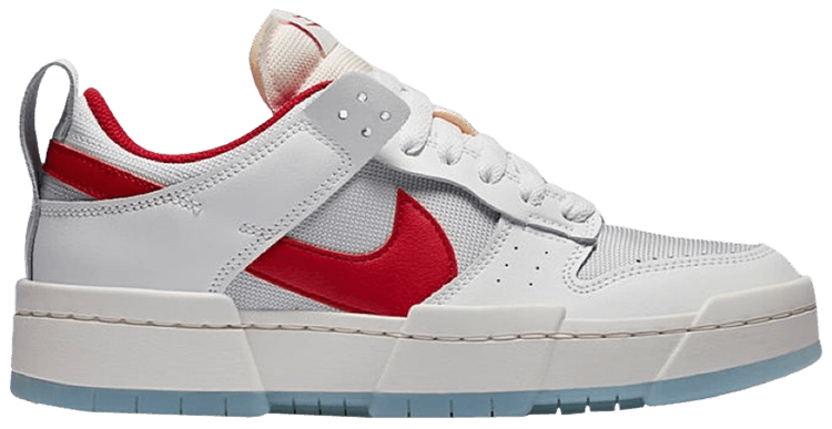 WMNS Nike Dunk Low Disrupt White Gym Red