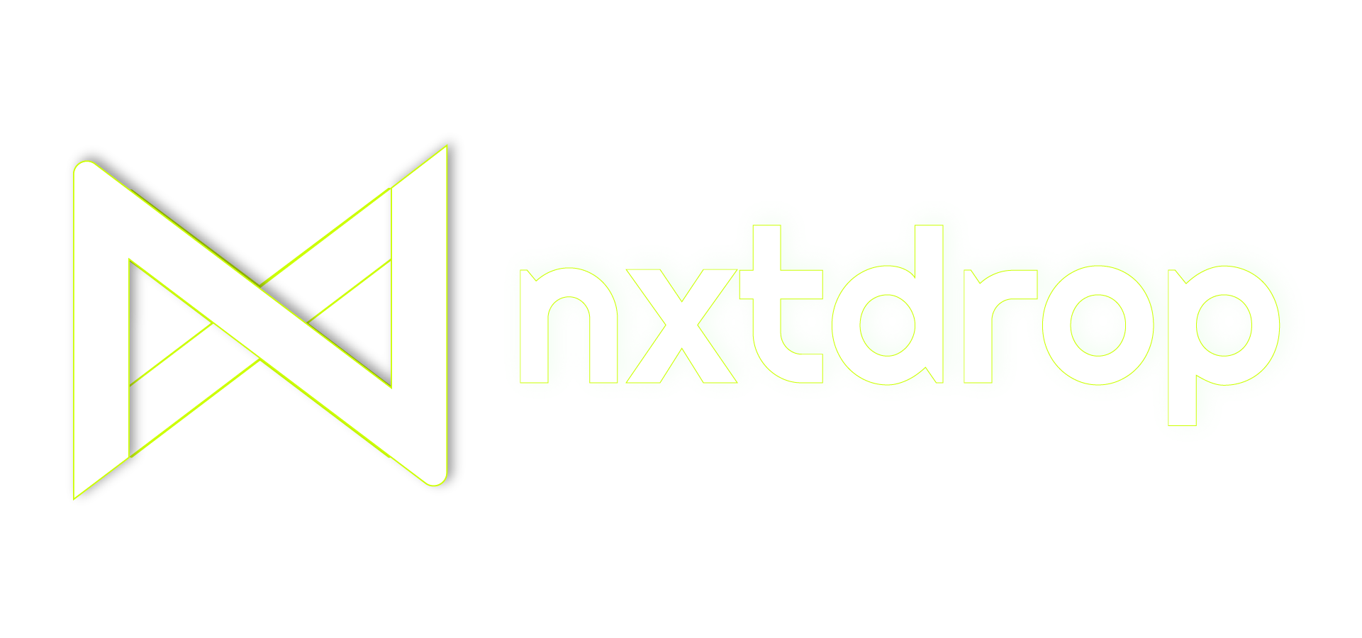 NXTDROP, Inc. Logo Negative