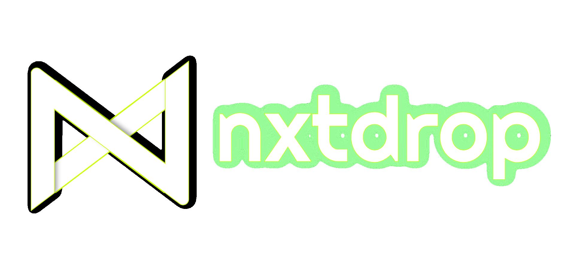 NXTDROP, Inc. Logo Negative