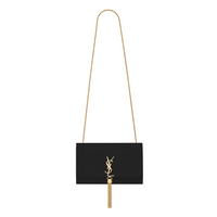 Kate medium bag with tassel in grain de poudre embossed leather