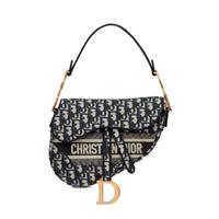 Saddle Bag blue dior oblique embroidery