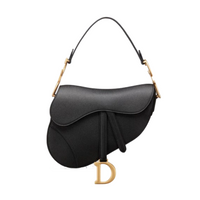 Saddle Bag black grained calfskin