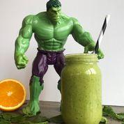 Grønn smoothie for barn som vil bli like sterk som Hulken