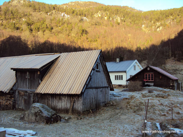 Bygninger på fjellgården Lansdal