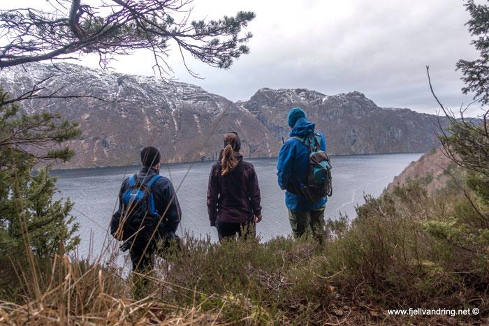 Beundrer utsikten utover fjorden