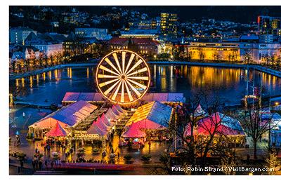 Oversiktsbilde Bergen Julemarked