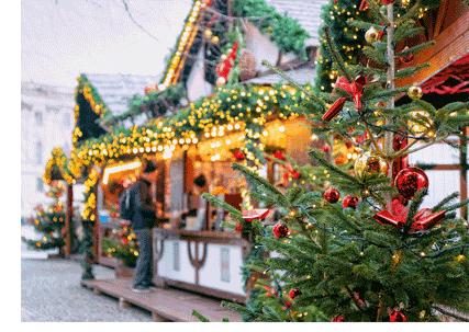 Marked og juletre