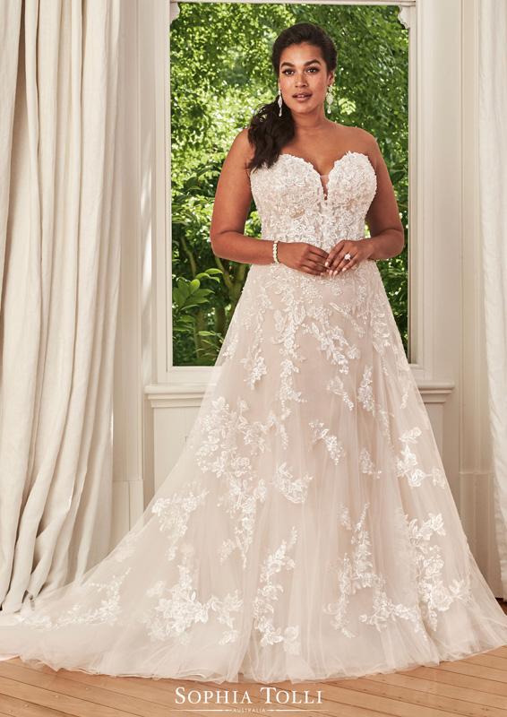 Sophia Tolli – Rosa – menyasszonyi ruha - Plus size