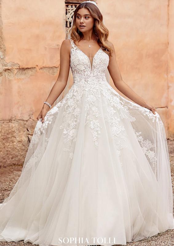 Sophia Tolli – Evelyn - menyasszonyi ruha