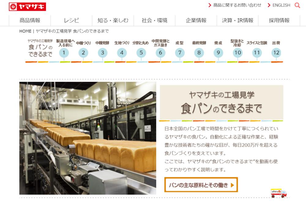 ヤマザキパン バーチャル工場見学