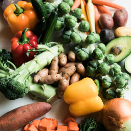 Delicious vegetables in every color