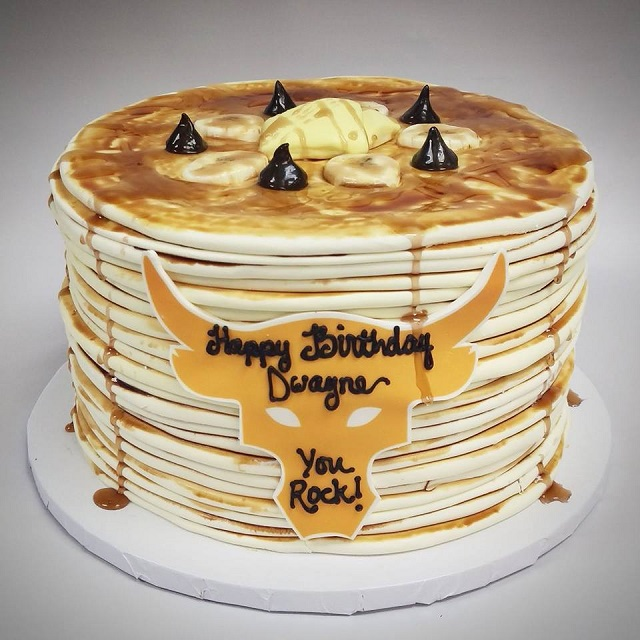 pancake cake from top tier treats for the rock