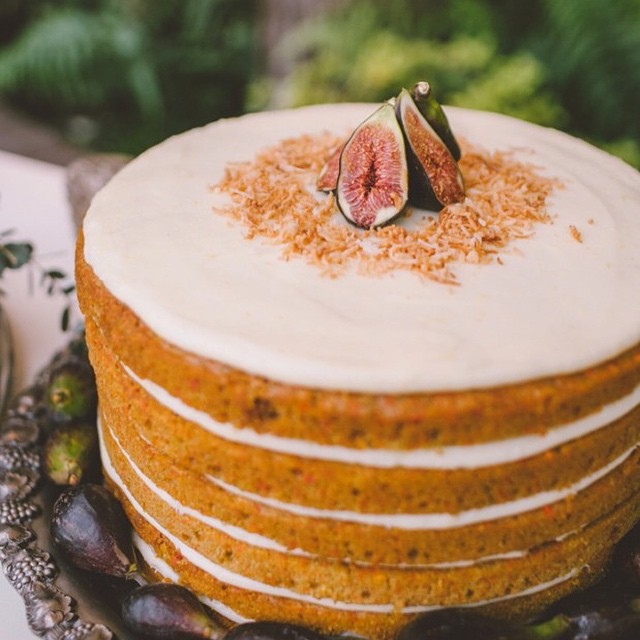 decorated carrot cake from valerie confections