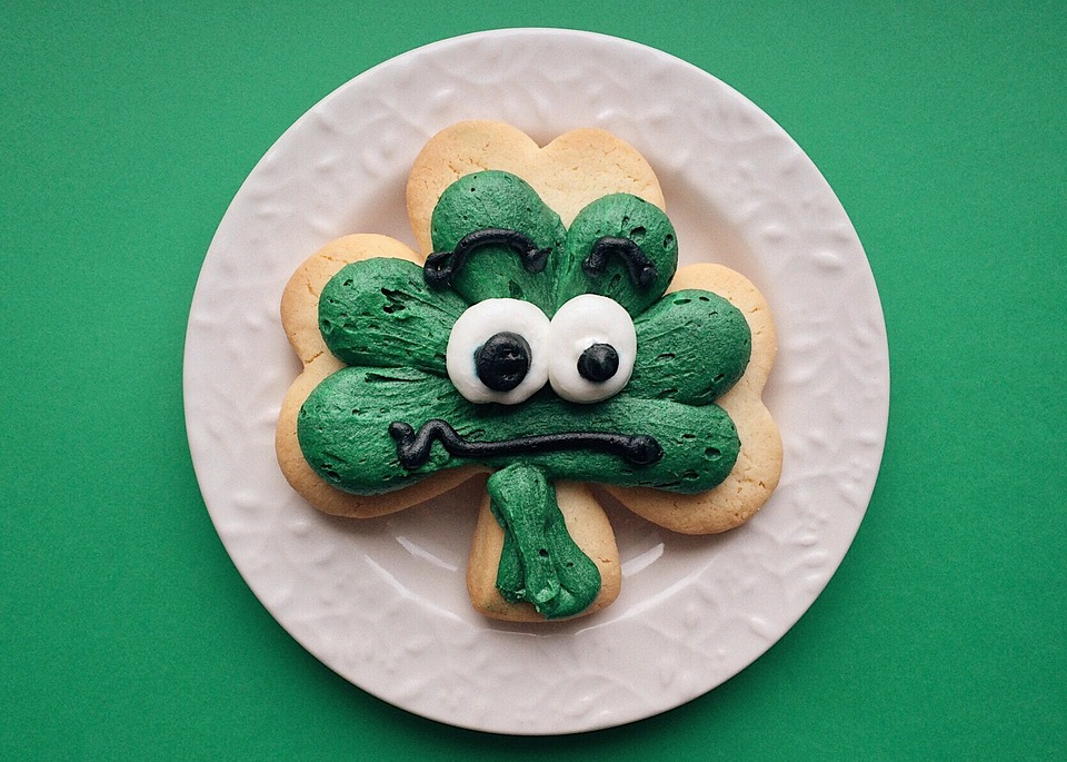 st. patrick's day green cookie snack
