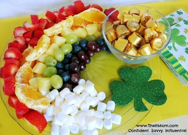 st. patrick's day fruit platter treat