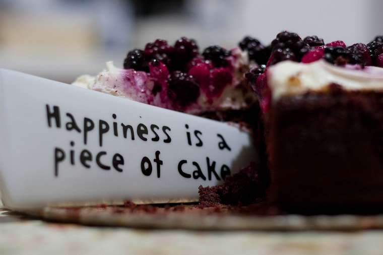 Happiness is a piece of cake cutting