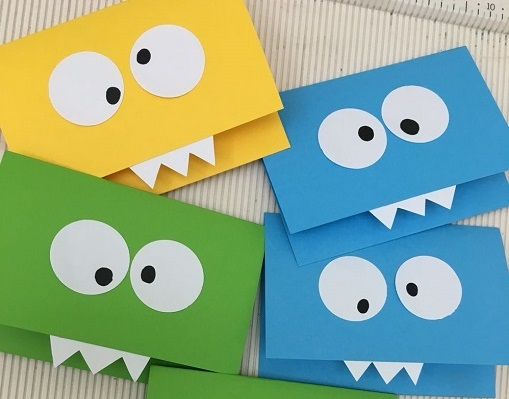 Super cute pop up monster invite