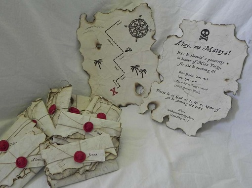Do it yourself pirate invitation