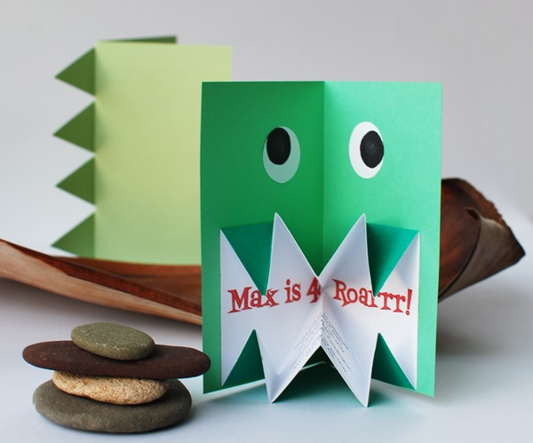 Cute monster invite