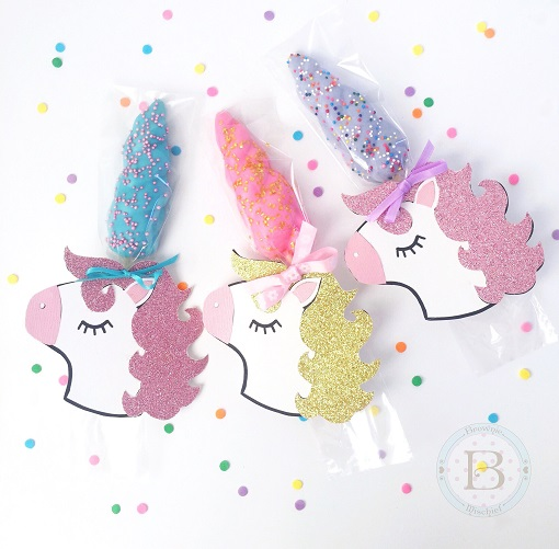unicorn horn party invitation