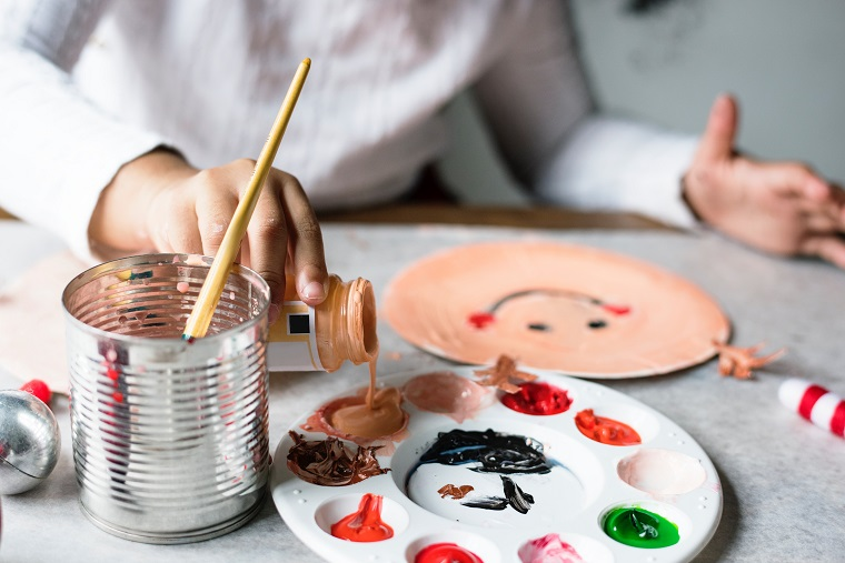 Kids birthday party painting and pottery