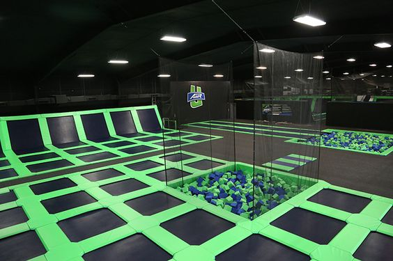A trampoline park lets rambunctious kids safely bounce off the walls
